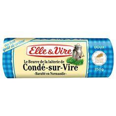 MON PREFERE !!! Le Beurre de la laiterie de Condé-sur-Vire est un beurre traditionnel au bon goût de crème apprécié des connaisseurs. Sa typicité gustative est directement issue du savoir-faire d'Elle & Vire et de son terroir normand ! #beurre #condésurvire #baratte @elleetvire