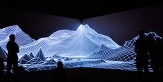 Audiovisual installation by Joanie Lemercier, Painting, layer of projected light, AntiVJ
