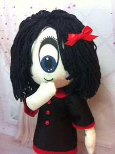 10-inch doll IRIS of Gloomsville Ruby Gloom's by theStudioGiftShop