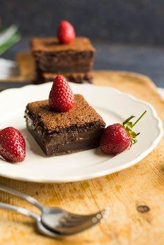 Gluten-Free Chocolate Magic Custard Cake | giverecipe.com | #chocolate #glutenfree