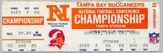 1979 NFC championship game ticket - Tampa Bay Buccaneers