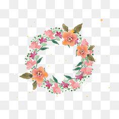 Coroas de Flores cor - de - Rosa, Coroa De Trança, Garland, QuadroPNG e Vector