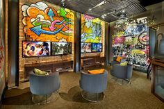 Video Gamer Room Inspired by Street Art