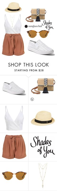 """""""Shades of You: Sunglass Hut Contest Entry"""" by tania-alves ❤ liked on Polyvore featuring Steve Madden, Stella & Dot, Helen Kaminski, Ray-Ban, House of Harlow 1960 and shadesofyou"""