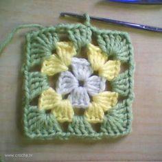 CROCHE: Square de Croche Borboleta