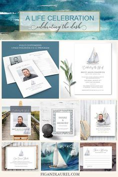 If your loved one sailed the seas and loved the seashore, this sailboat themed funeral guest book, memorial service welcome sign, and other celebration on life ideas will be a sweet tribute to a life well lived.