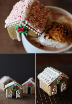Mini Gingerbread Houses | 27 Holiday Cookies That Are Almost Too Cute To Eat