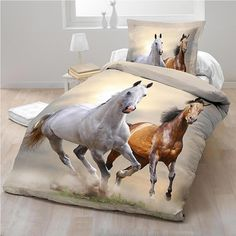 Spirit, Horse Single Bedding - http://www.childrens-rooms.co.uk/spirit-horse-single-bedding.html #horse #horsebedset #girlsbedding