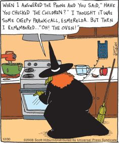 ~ Witchy Humor: The Oven Halloween Meme, Halloween Cartoons, Holidays Halloween, Vintage Halloween, Happy Halloween, Halloween Treats, Samhain, Funny Cartoons, Funny Jokes