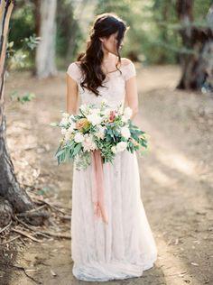 Elegant botanical wedding ideas photo by Brushfire Photography