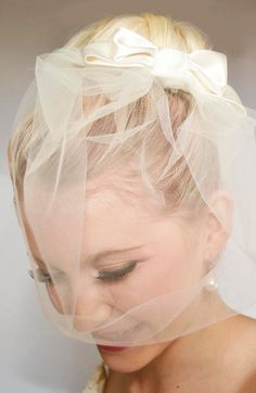 1960's Inspired Bridal Birdcage Veil with a Handmade by LINDSAYHP, £48.00