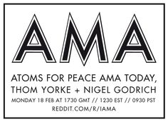 Thom Yorke and Nigel Godrich Answering Questions on Reddit today