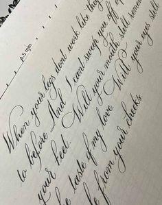 Cursive Calligraphy, Brush Pen Calligraphy, Calligraphy Practice, Modern Calligraphy, Handwriting Examples, Cursive Handwriting, Cursive Small Letters, Hand Lettering Practice, Wedding Songs