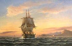 British Man of War Image of Franz Hünten Painting