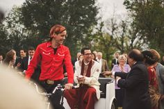 Love this blend of Indian wedding + keeping Austin weird.   Groom learning traditions, on rockin' pedicab.   <3   Barr Mansion,  Austin TX  ///  Neha & Jason, December 3  ///  Nessa K Photography