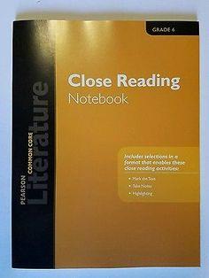 Set of 24 Pearson Literature 2015 Common Core Close Reading Notebook Grade 6