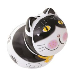 cat piggy bank, cat money boxes, cool cat money bank, black and white cat, animal money box, ceramic, animal piggy banks, novelty money box, money boxes, money banks