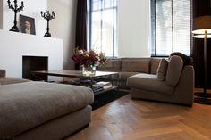 visgraat vloer | krijtwas | stoere houten vloer | parket visgraatpatroon | herenhuis | BVO Vloeren