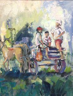 Joy ride Joy Ride, South African Artists, Palette Knife, Pablo Picasso, Galleries, Photo Art, Watercolour, Art Ideas, Art Gallery