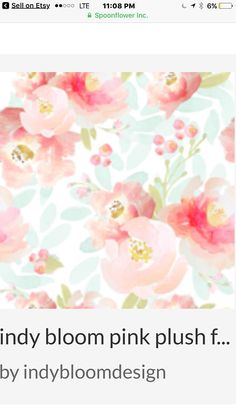 Floral Watercolor Fabric - Indy Bloom Pink Plush Florals By Indybloomdesign - Baby Girl Nursery Cotton Fabric By The Yard With Spoonflower Self Adhesive Wallpaper, Custom Wallpaper, Of Wallpaper, Peel And Stick Wallpaper, Bedroom Wallpaper, Wallpaper Designs, Fabric Wallpaper, Flower Wallpaper, Disney Wallpaper