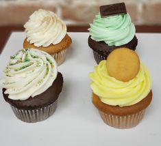 Swirl Cupcakes, Gourmet Cupcakes, Banana Pudding, Baileys, Mint Chocolate, Desserts, Food, Meal, Deserts
