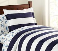 Rugby Duvet Cover by Pottery Barn Kids--maybe for Jude's big boy room in a few years Boys Bedroom Sets, Boy Rooms, Kids Rooms, Striped Bedding, Navy Duvet, White Duvet, Green Duvet Covers, New Room, Luxury Bedding