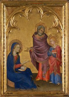 Simone Martini (c. 1284 – 1344) was an Italian painter born in Siena. He was a major figure in the development of early Italian painting and greatly influenced the development of the International Gothic style. - Christ Discovered in the Temple, 1342