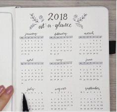 2018 at a glance! #WilliamHannahUK #BecauseWritingHelps #bujo #bulletjournaling #bulletjournal #2018 #newyear #newnotebook #leatherjournal #journal #journaling #notebook #planneraddict #dailywriting www.wiliamhannah.com