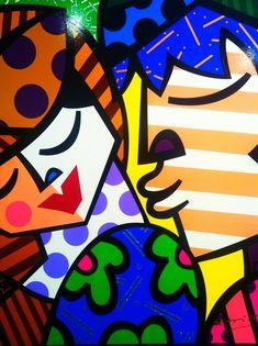 romero britto art | Romero Britto: Loving Pop Art