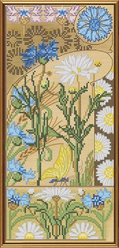 Just Flowers Blooming 2 Cross Stitch Kit 14ct 11ct Count Print Canvas Wall Clock Stitching Embroidery Diy Handmade Needlework Price Remains Stable