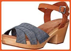 TOMS Women's Beatrix Clog Sandal Chambray Brown Suede Sandal 5 B (M) - Sandals for women (*Amazon Partner-Link)