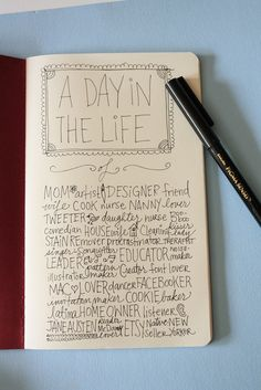 Love this journal idea.