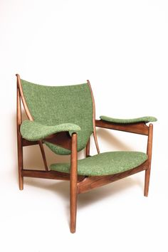 The Sterling Green/Wood Lounge Chair by Control Brand Living Room Furniture, Home Furniture, Style Lounge, Stylish Chairs, Restaurant, Contemporary Home Decor, Chair And Ottoman, Armchair, Club Chairs