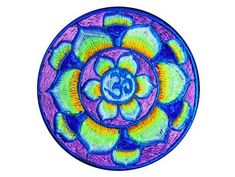 this nice lila flower aum patch can be very easy attached everywhere. size: diameter patch is glowing in blacklight Goa India, Ganesha, Cosmic, Psychedelic, Mandala, Patches, Consciousness, Colorful, Space