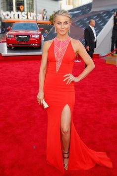 Julianne Hough blended right in with the red carpet. Her Zuhair Murad dress was cute nevertheless.