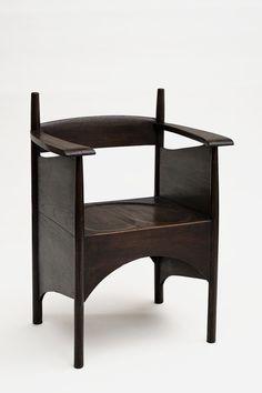 Charles Rennie Mackintosh, chair for the Argyle Tea Room, 1897. Oak. Glasgow
