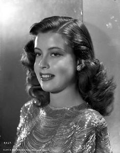 Gloria DeHaven Side View Posed with Red lipstick and Curly Hair High Q – Movie Star News