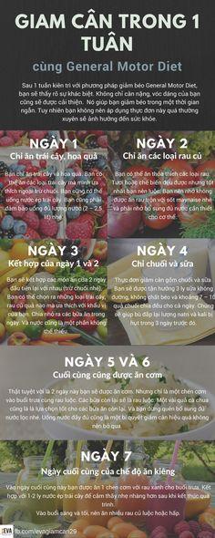 Chế độ ăn kiêng general motor diet có thể giúp bạn giảm cân trong 1 tuần #evagiamcan