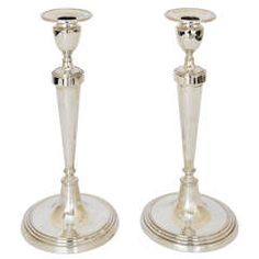 Pair of George III Antique Silver Candlesticks - PRINTED 4/29