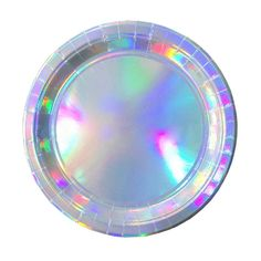Holographic Foil Party Paper Plate Round Tray  sc 1 st  Pinterest : disposable paper plates - pezcame.com