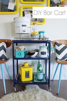 DIY Furniture  : DIY Bar Cart