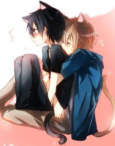 Silcener Artista Sword Art Online Anime Eugeo (Sword Art Online) Personaje Kirigaya Kazuto Personaje Cola De Gato Hug From Behind