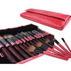 Bundle Monster New 15pc Pro Makeup Eye Shadow Brush Set   Eye Brush Case Pink$18.75 AUTUMN