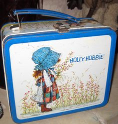 Little prairie girl.... Holly Hobbie is a newer version of the old tin lunch box