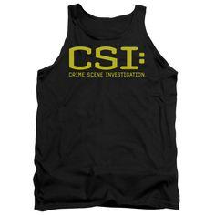 CSI/LOGO - ADULT TANK - BLACK -