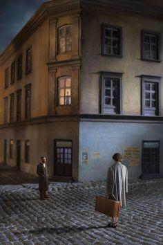 Richard Tuschman - Couple In The Street, 2014
