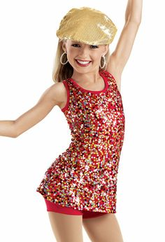 Sequin tank with shorts weissman costume