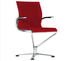 Love this chair! A functional desk chair that looks sleek and sexy from the side. The lack of exposed mechanisms under the seat make it a sleeker choice for desk seating in residential installments. It also comes with casters!