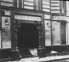 """Galeria """"Art Nouveau"""" administrada por Siegfried Bing e projetada por Henri Van de Velde."""