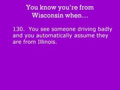 You know you're from Wisconsin when...: Photo